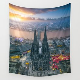 Sunset at the Rhine Wall Tapestry