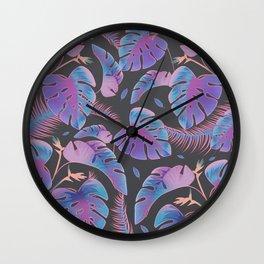 Neon Garden Wall Clock