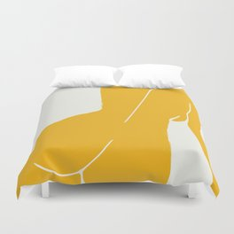 Nude in yellow Duvet Cover