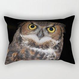 Eli - Great Horned Owl II Rectangular Pillow
