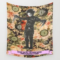 thrones Wall Tapestries featuring There, paradise is found! by Laura Nadeszhda