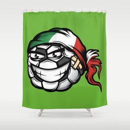 Football - Italy Shower Curtain