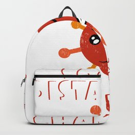 Social Distancing World Champion T-shirt Design World Let's Fight Corona Virus Pneumonia Cold Fever Backpack
