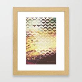 Hills on Fire Framed Art Print