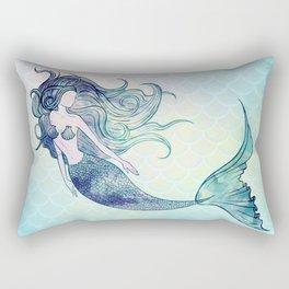 Watercolor Mermaid Rectangular Pillow