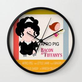 Bacon at Tiffany's Wall Clock