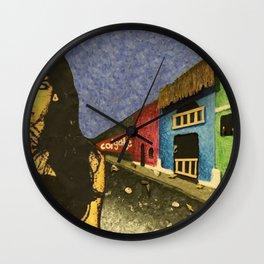 Nicaraguan Streets Wall Clock