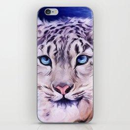 snowy leopard iPhone Skin