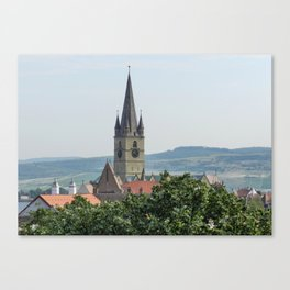 Cathedral Bell Tower in Sibiu Transylvania Canvas Print