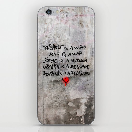 The message iPhone & iPod Skin