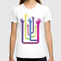 hands T-shirts featuring Hands by Sitchko Igor