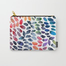 Colorful Painted Drops Carry-All Pouch
