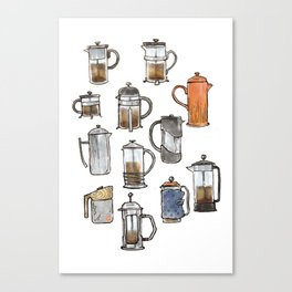 french press Canvas Print