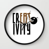 creativity Wall Clocks featuring creativity by Andrea Bettin ART