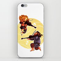 kili iPhone & iPod Skins featuring Fiddling Fili and Kili by quelm