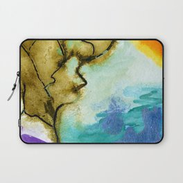 Galapagos Sandscape #Abstract #Watercolors Laptop Sleeve
