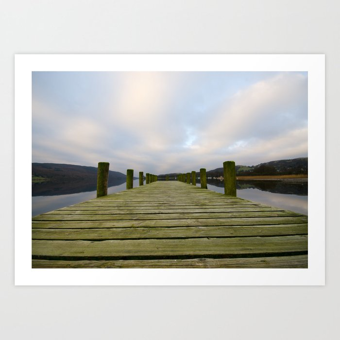 Coniston Pier Art Print