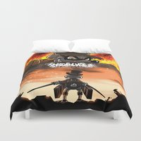 titan Duvet Covers featuring A Quack on Titan by ADobson