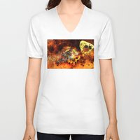 bugs V-neck T-shirts featuring Chasing bugs. by Nato Gomes