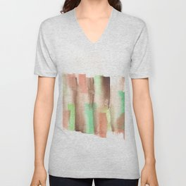[161228] 14. Abstract Watercolour Color Study |Watercolor Brush Stroke Unisex V-Neck