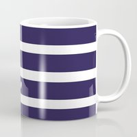 preppy Mugs featuring PREPPY STRIPES by Anna Eve