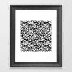 Gun Range Target Thug Guy (Black & White) Pattern Framed Art Print