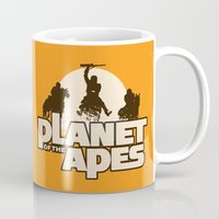 planet of the apes Mugs featuring Planet of the Apes by leea1968