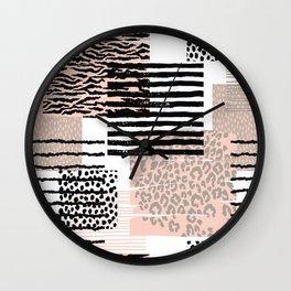 Animal Print Patterns Wall Clock