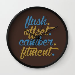 flush offset camber fitment v7 HQvector Wall Clock