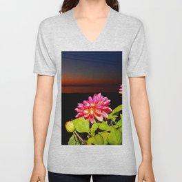 Flowers at Night Unisex V-Neck