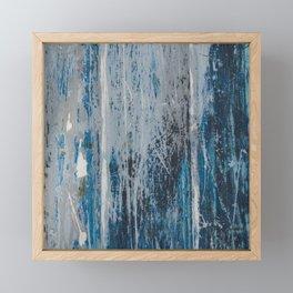 weathered wood Framed Mini Art Print