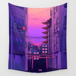 Tokyo Day Wall Tapestry