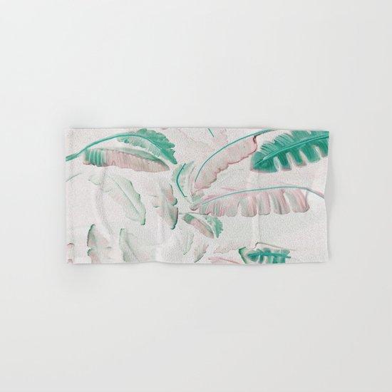 Watercolor banana leaf pattern Hand & Bath Towel