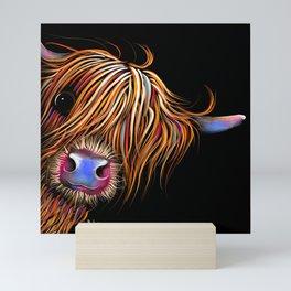 HiGHLaND CoW PRiNT SCoTTiSH ' SuGaR LuMP B ' BY SHiRLeY MacARTHuR Mini Art Print