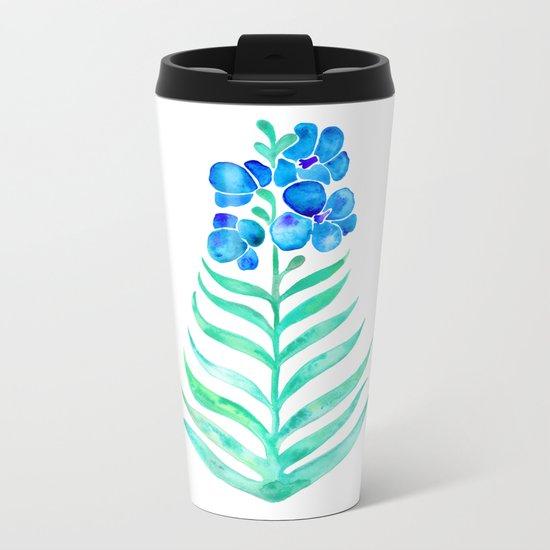 Blooming Orchid – Mint & Blue Palette Metal Travel Mug