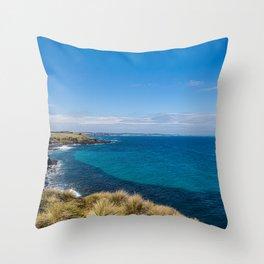 Phillip Island Coast Line Throw Pillow