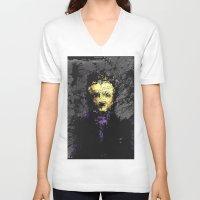 edgar allan poe V-neck T-shirts featuring Edgar Allan Poe by brett66