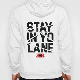 BBB Mens white stay in yo lane savage los angeles showtime lakeshow savage Hoody