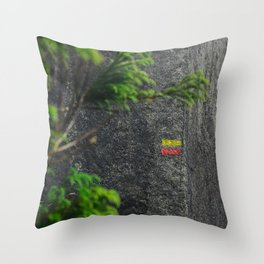 Chemin de randonnée, azores Throw Pillow