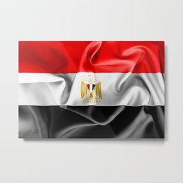Egypt Flag Metal Print