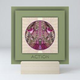 Action Manifestation Mandala No. 4 Mini Art Print