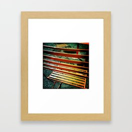Orange Chairs Framed Art Print
