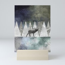 Bull Elk Mini Art Print