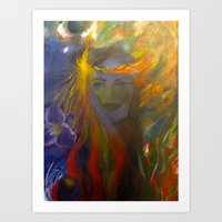 Mother and its nature. Art Print