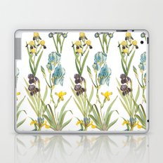 Vintage Floral Pattern | No. 2B | Iris Flowers | Irises Laptop & iPad Skin