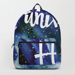 Space Neon Watercolor #10: Hello Universe Backpack