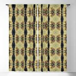 wildflower bouquet, yellow pattern Blackout Curtain