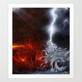 Fire And Thunder Art Print