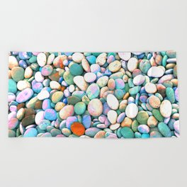 PEBBLES ON THE BEACH Beach Towel