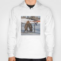 outdoor Hoodies featuring Outdoor hockey rink by RMK Creative